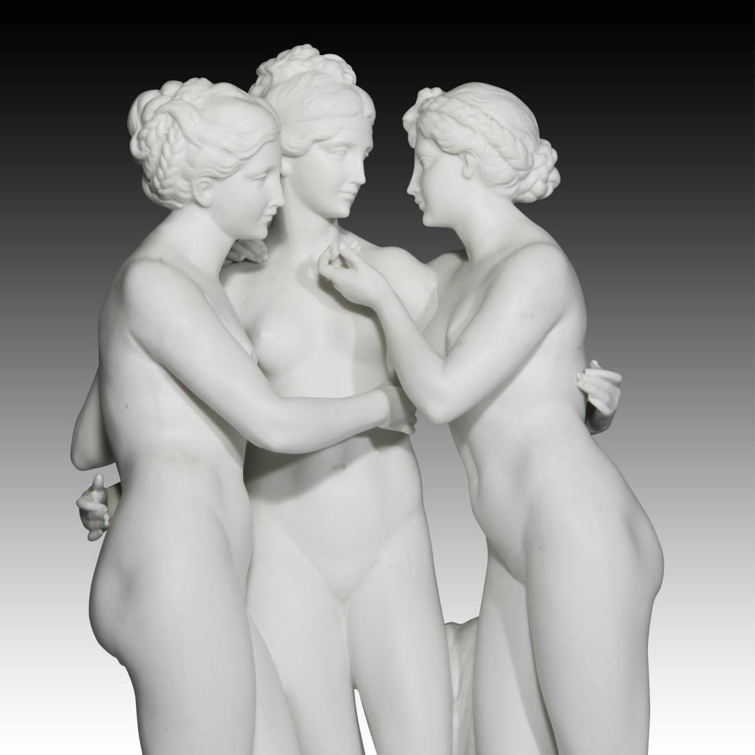 """Nude Group of Females """"The Three Graces of Paris"""" - 3"""