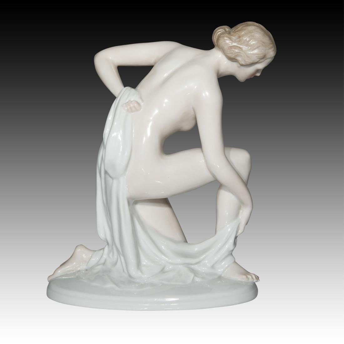 "Rosenthal Nude ""After Bath"" Female figurine #733 - 3"