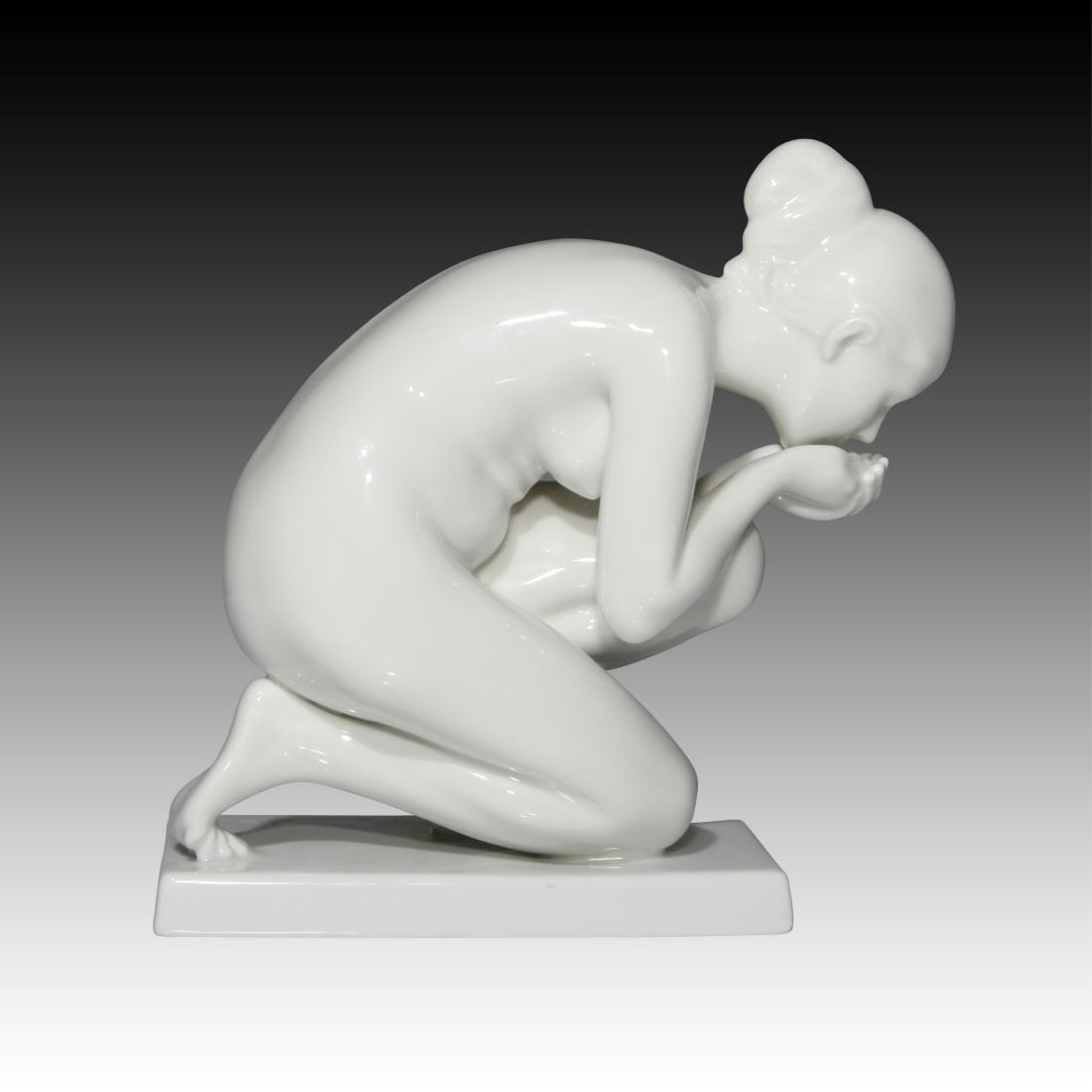 Rosenthal Nude Female Drinking Water Figurine - 2
