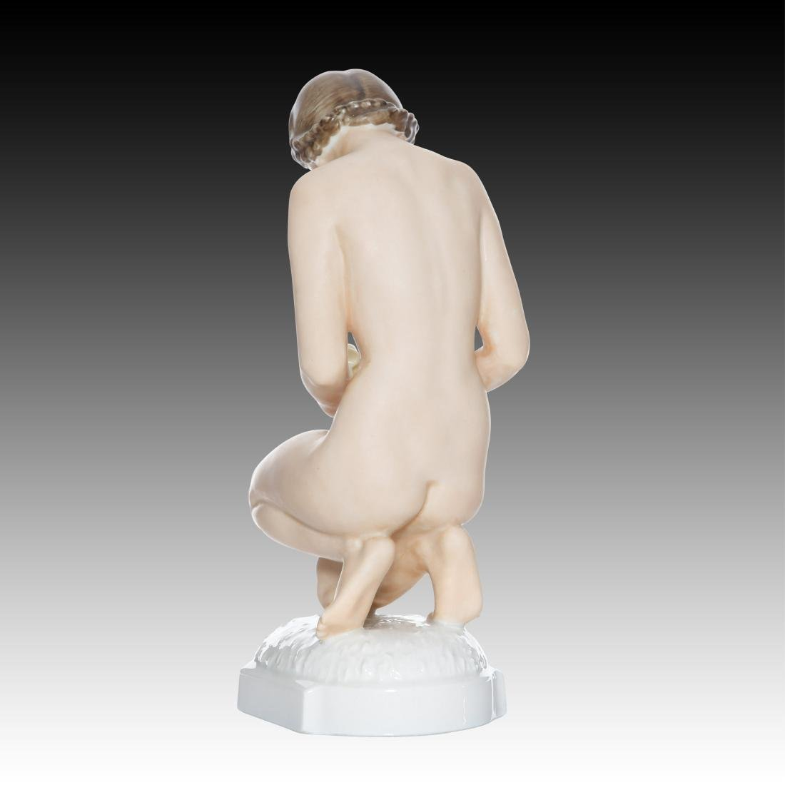 Hutschenreuther Nude Woman with Chicks Figurine - 3