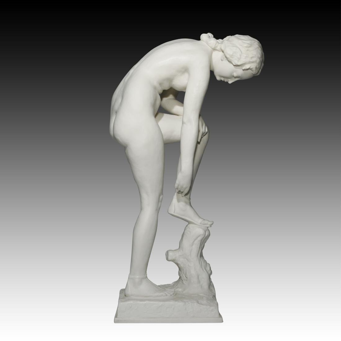 Hutschenreuther Nude Figurine with Bisque Finish