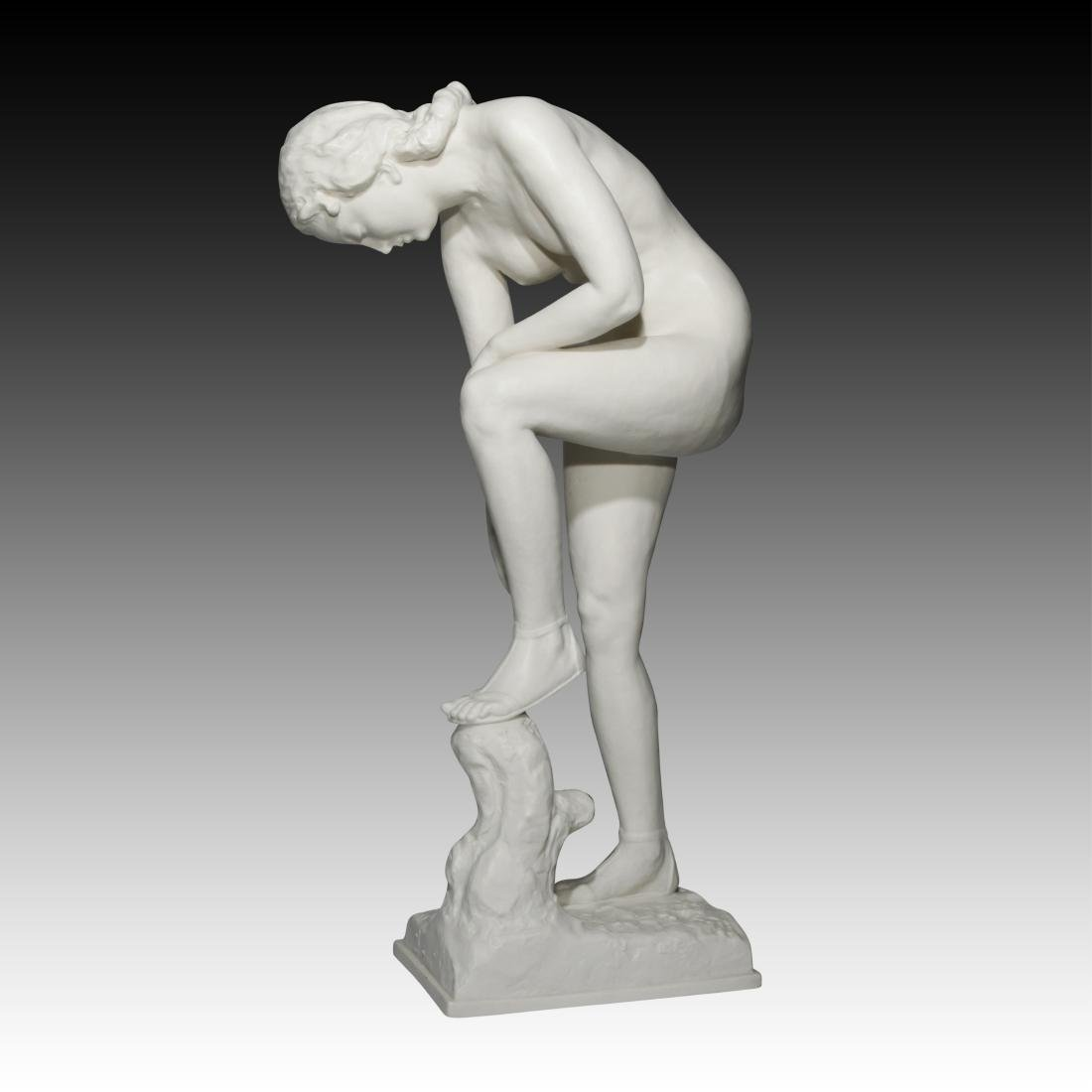 Hutschenreuther Nude Figurine with Bisque Finish - 3