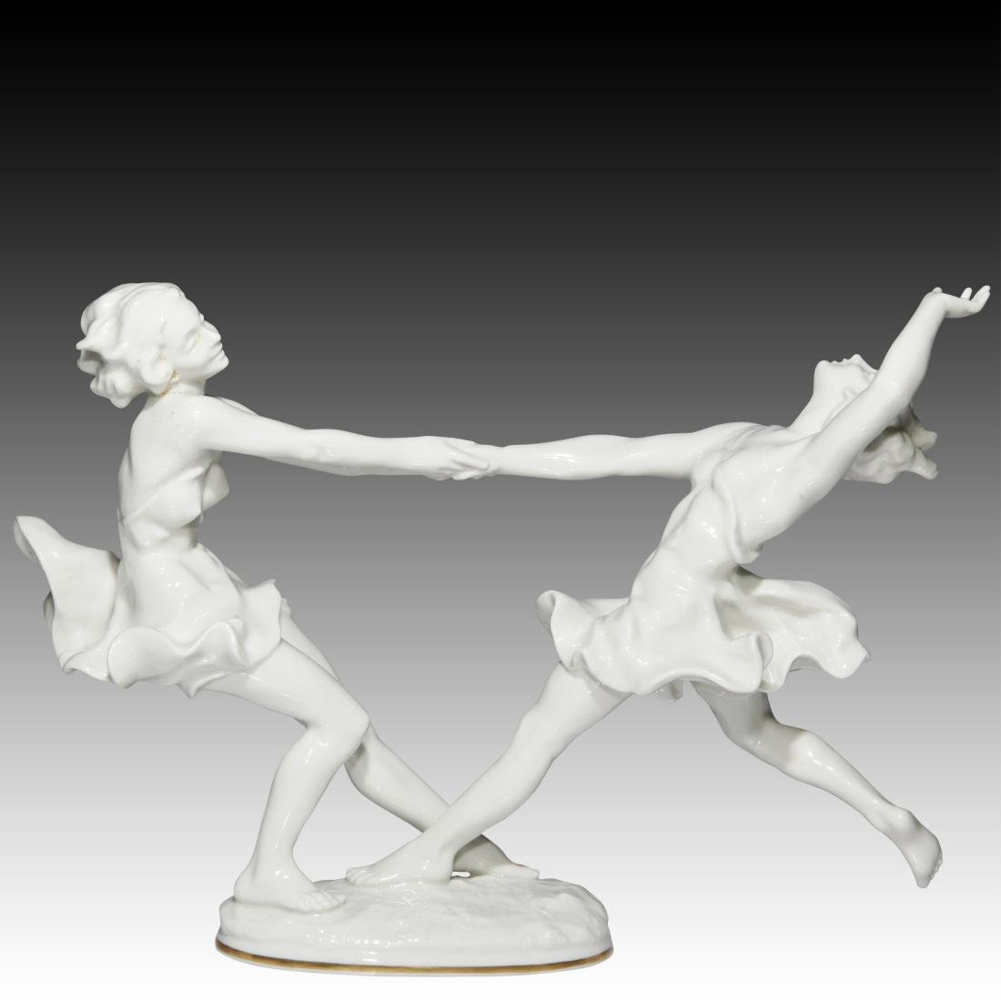 Hutschenreuther Two Dancing Sisters Figurine