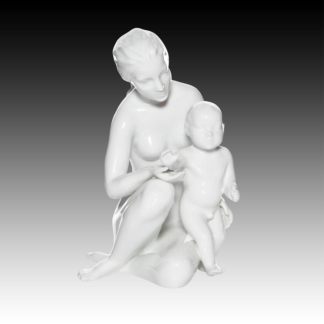 Royal Dux Mother and Child Figurine