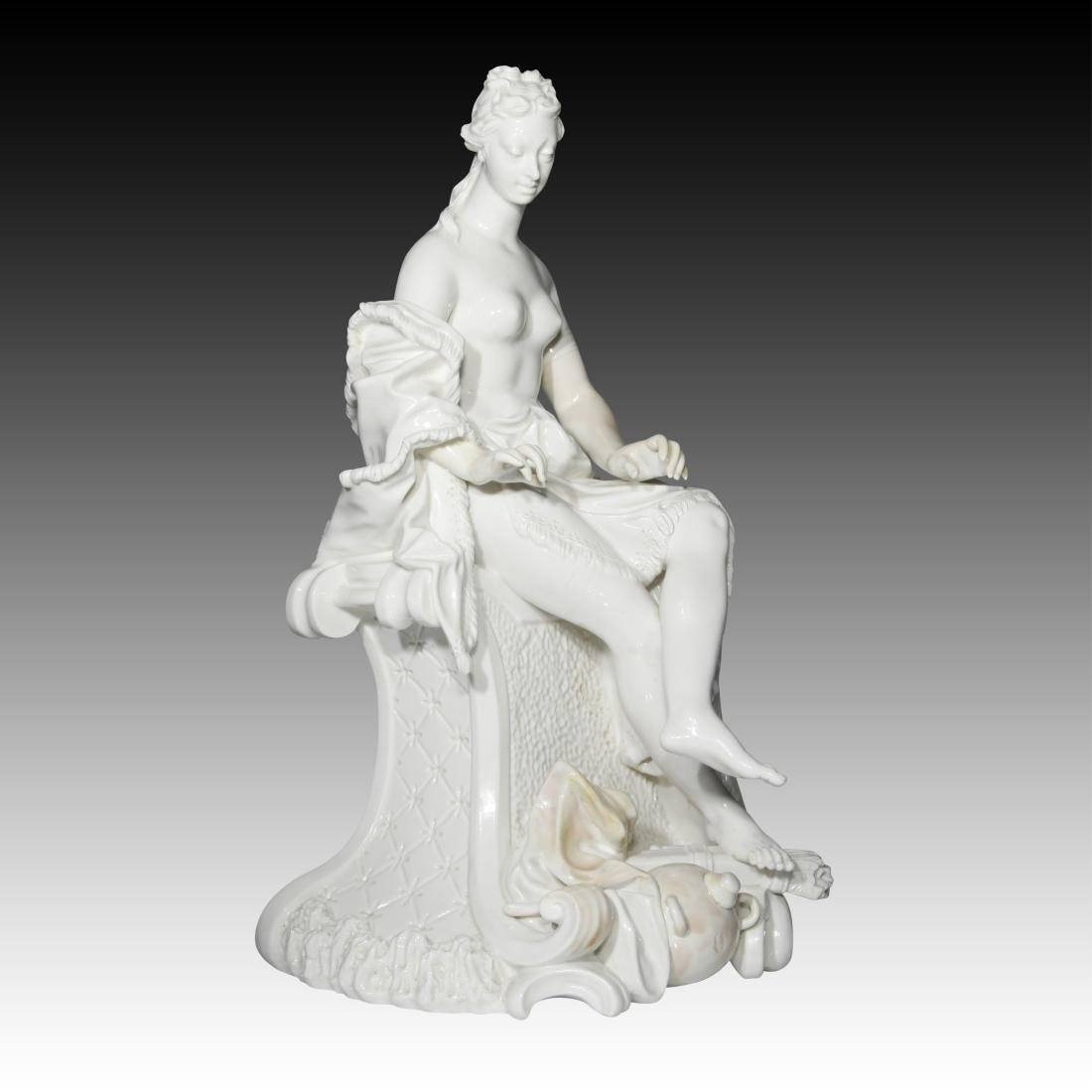 Nymphenburg Nude Female Archer Figurine
