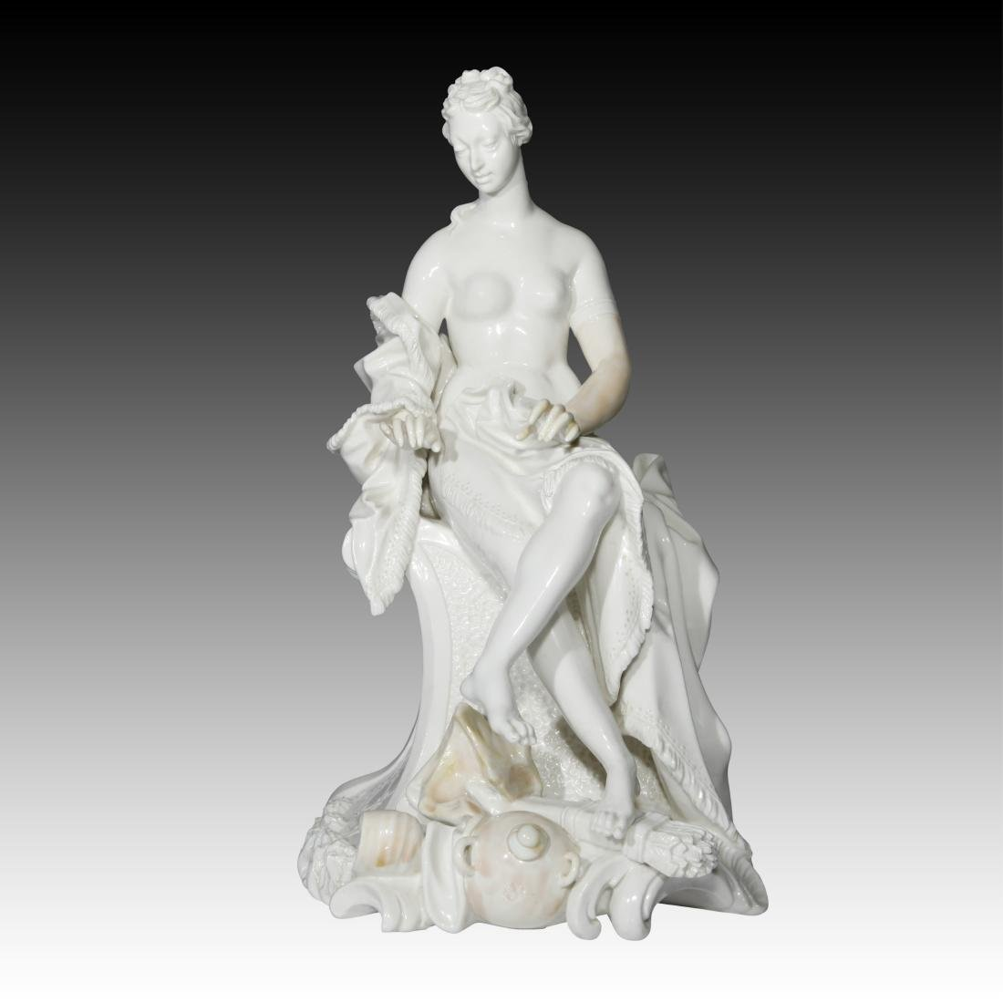 Nymphenburg Nude Female Archer Figurine - 2