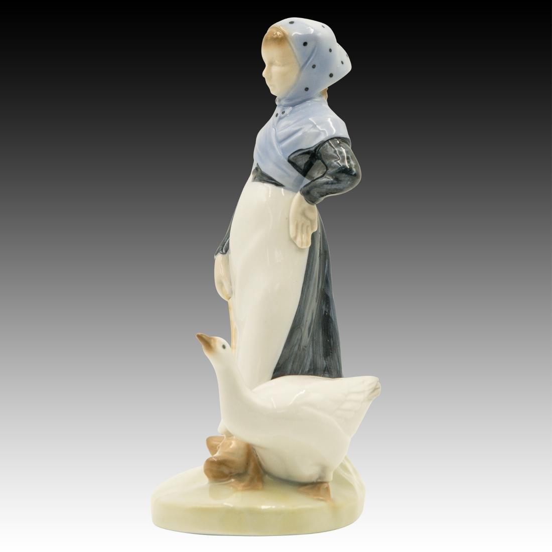 Royal Copenhagen Girl with Goose Figurine - 4