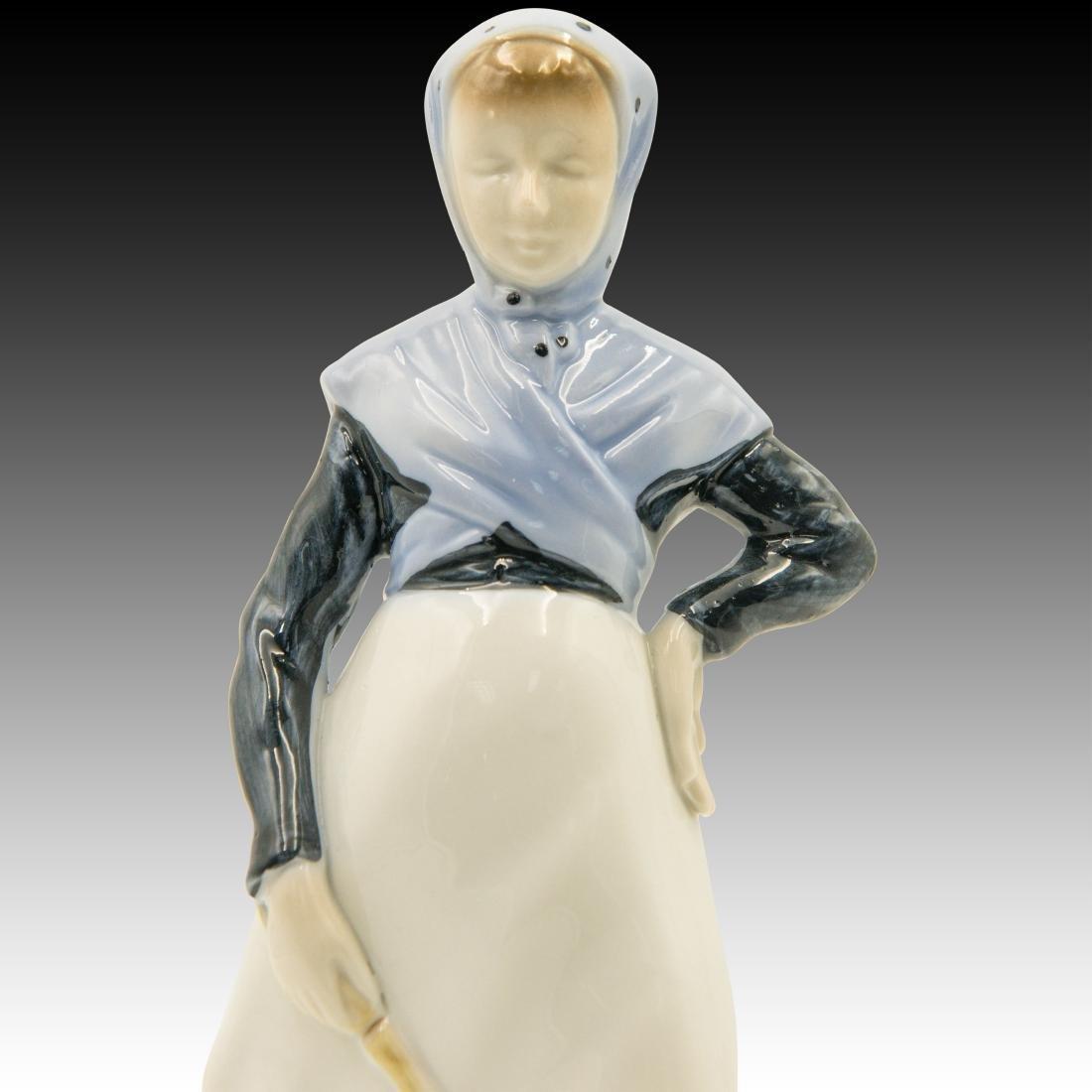 Royal Copenhagen Girl with Goose Figurine - 5