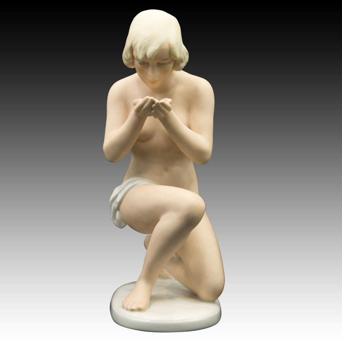 UnterWeiss Bach Young Woman Kneeling Figurine