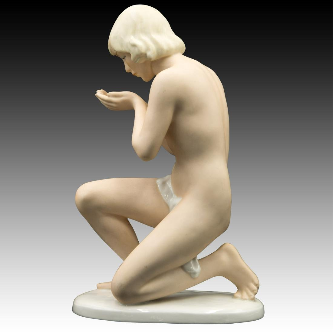 UnterWeiss Bach Young Woman Kneeling Figurine - 4