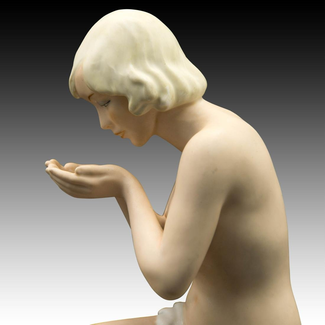 UnterWeiss Bach Young Woman Kneeling Figurine - 5