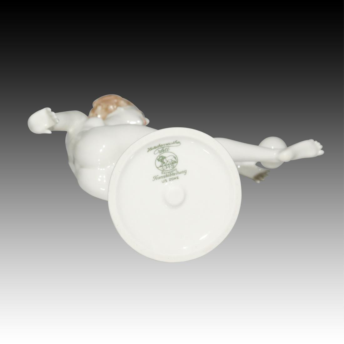 Hutschenreuther Girl Balancing a Ball Figurine - 3