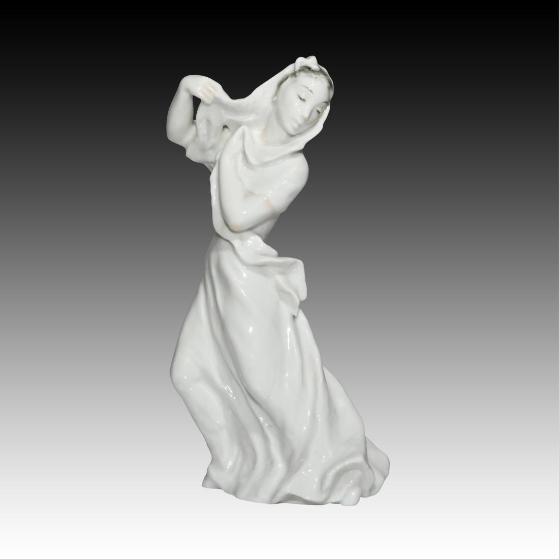 Rosenthal Blanc de Chine Figurine Wearing a Veil
