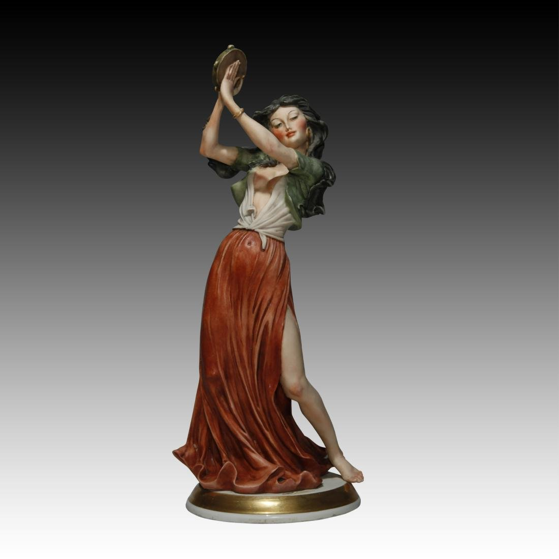 Capodimonte Figurine of a Gypsy Girl