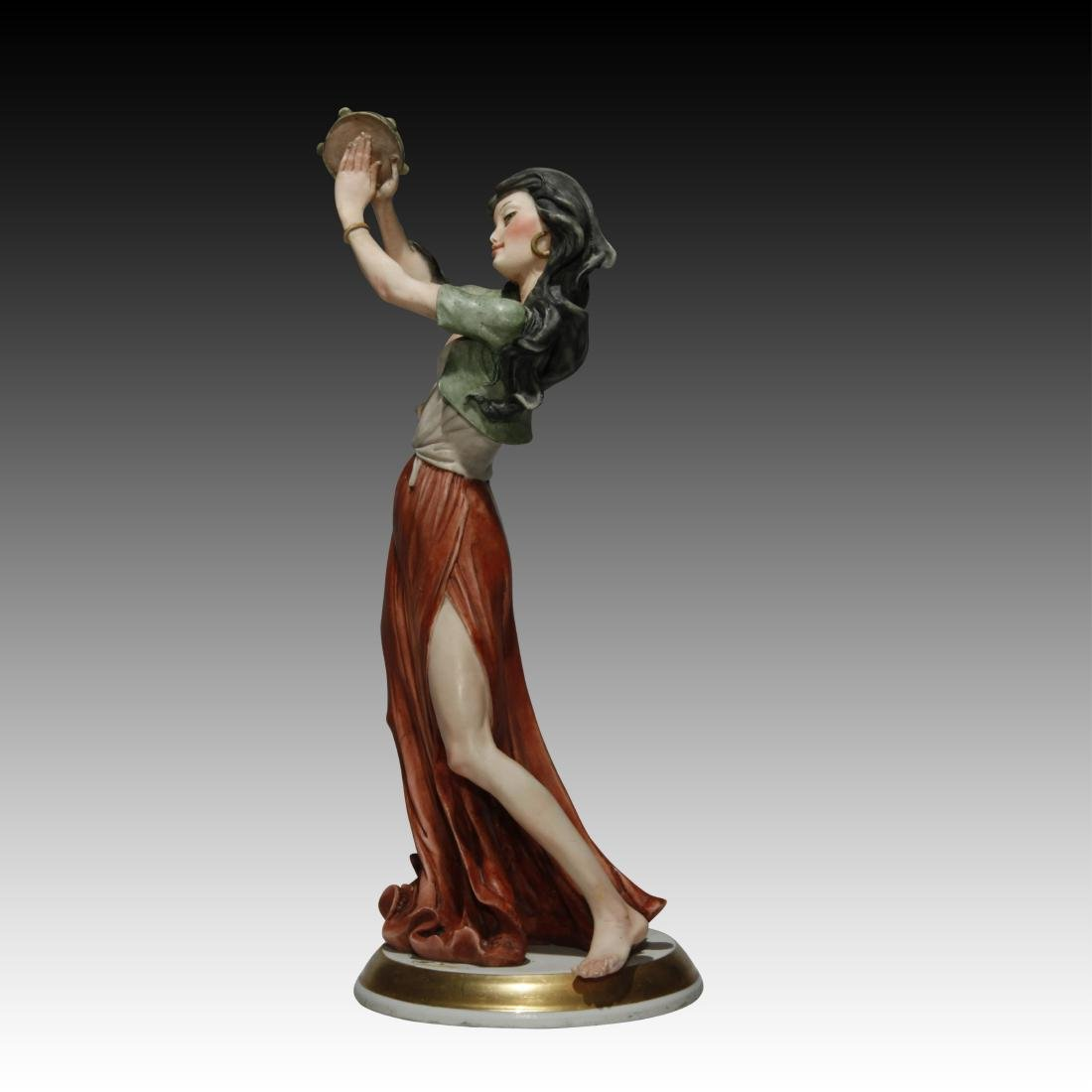 Capodimonte Figurine of a Gypsy Girl - 2