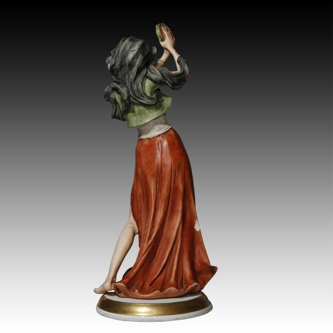 Capodimonte Figurine of a Gypsy Girl - 3