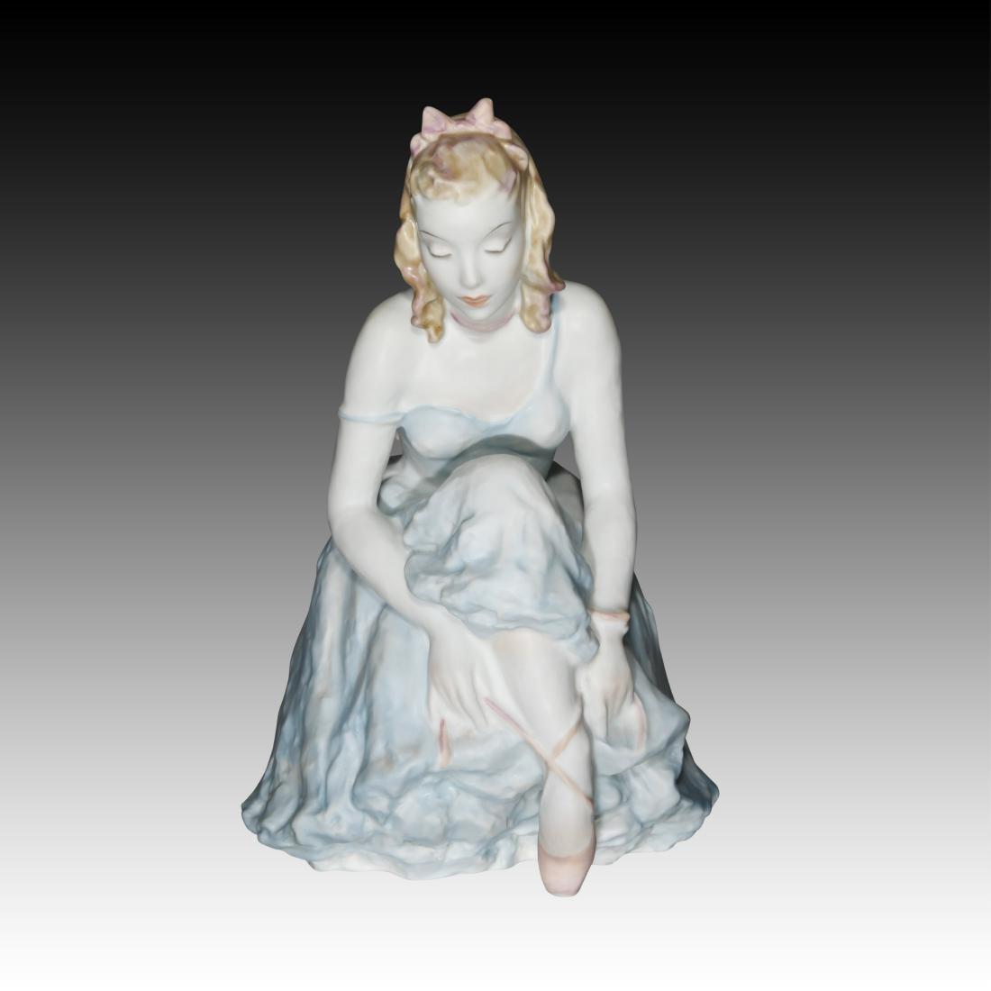 Rosenthal Ballerina Figurine Tying Her Shoe.