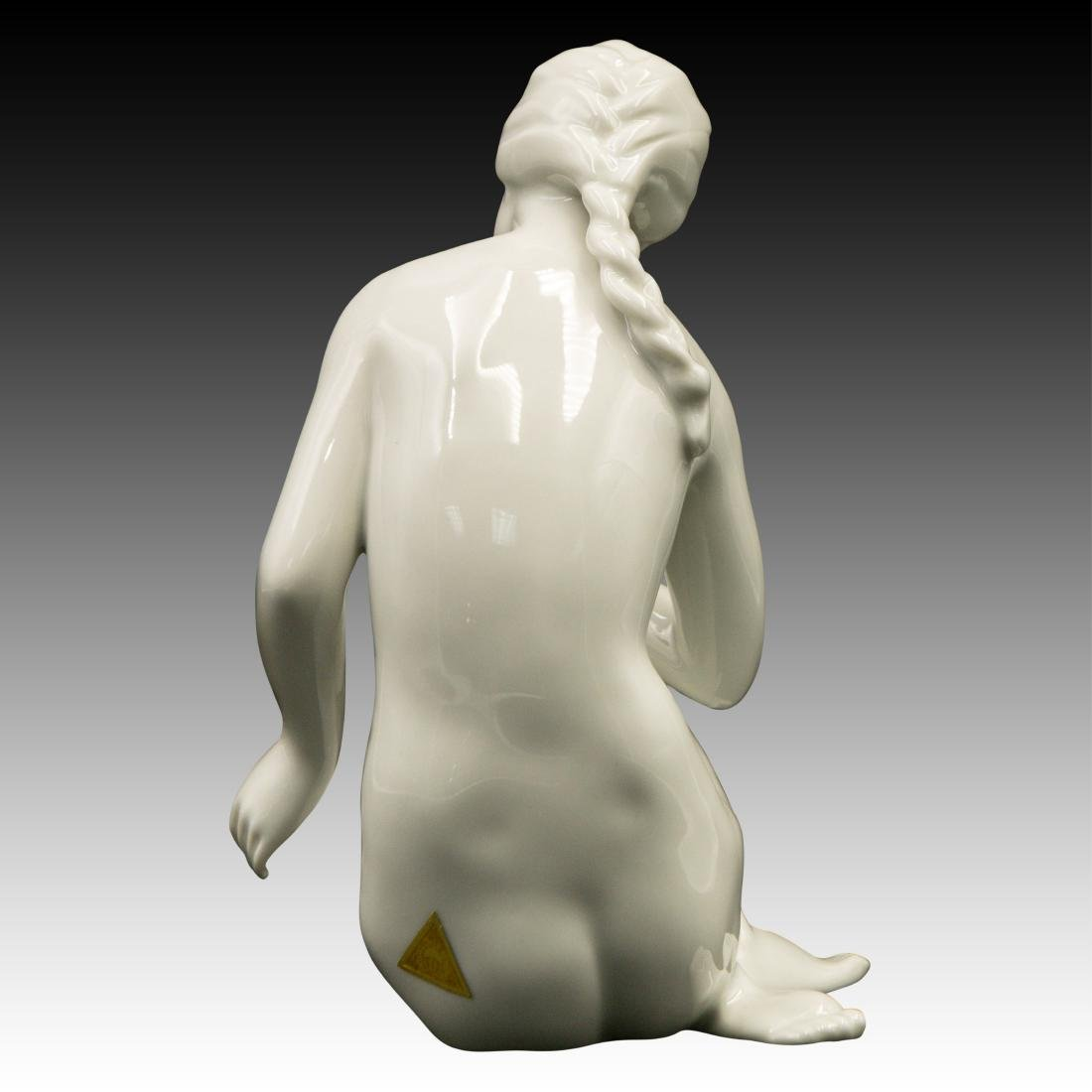 Royal Dux Nude Woman with a Ball Figurine - 3