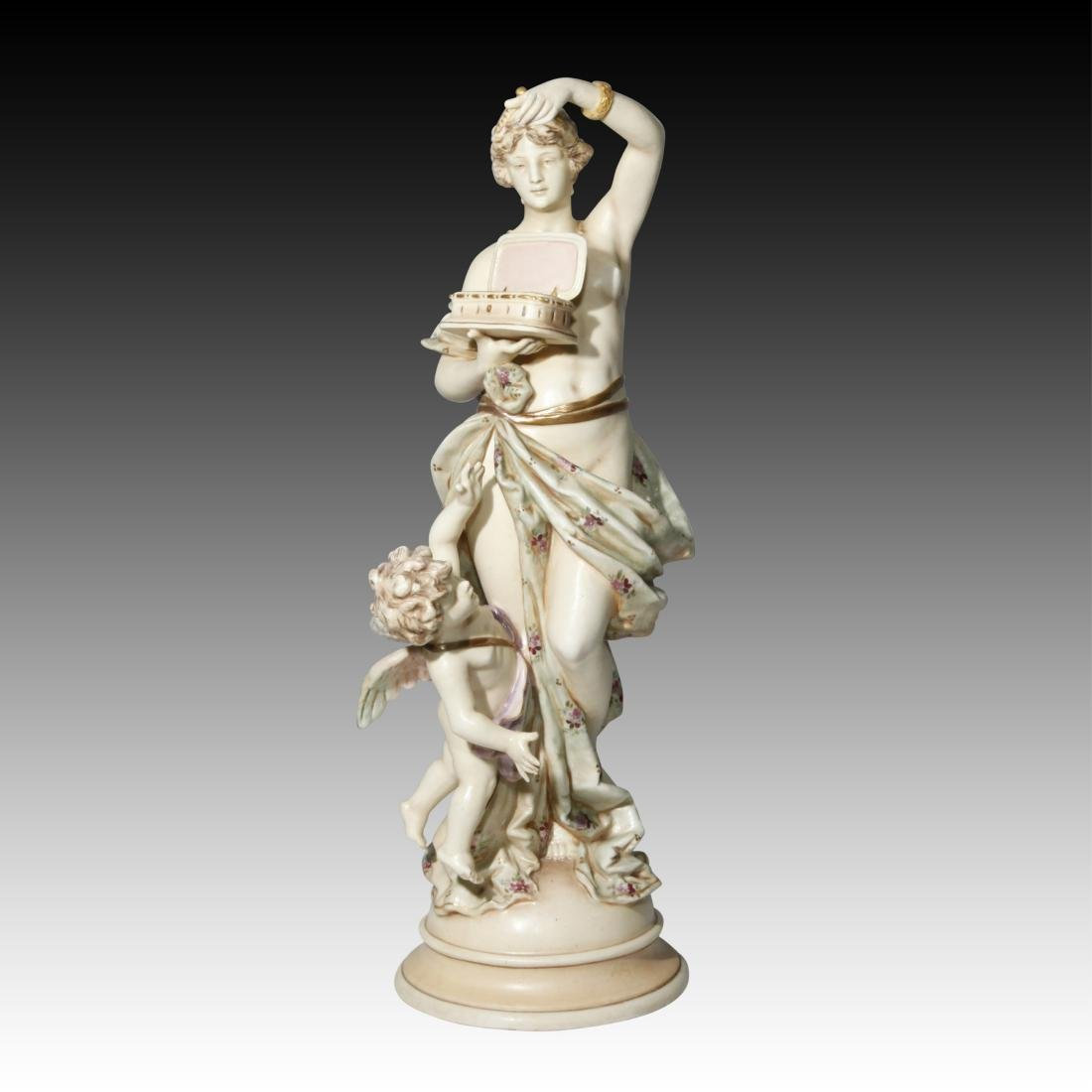 Wein Nude Goddess Figurine with Cherub