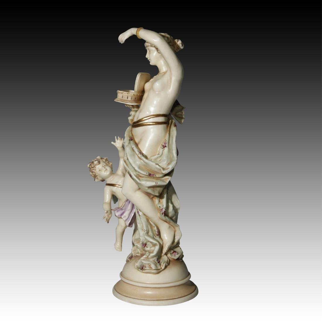 Wein Nude Goddess Figurine with Cherub - 2