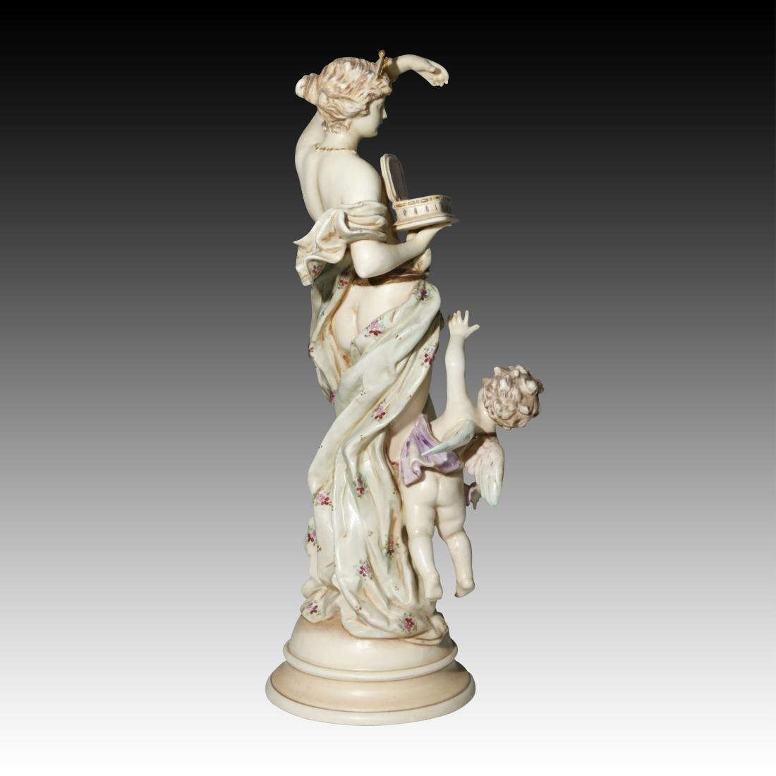 Wein Nude Goddess Figurine with Cherub - 3