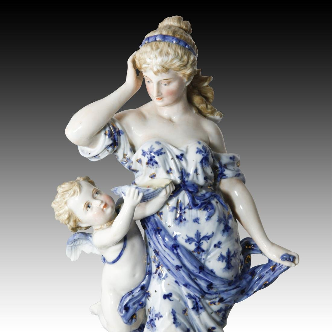 KPM Rubenesque Woman with Cherub Figurine 1049 - 2
