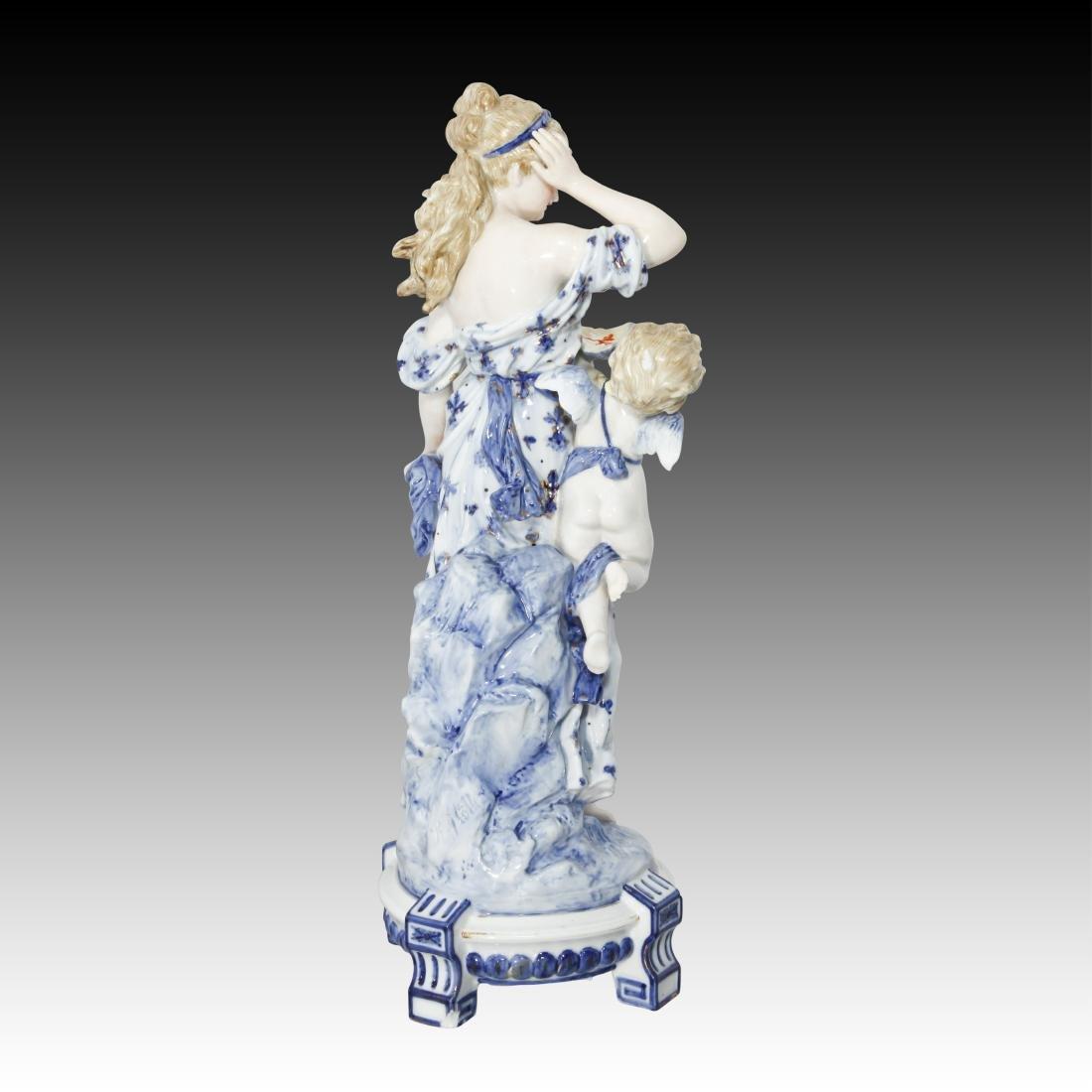 KPM Rubenesque Woman with Cherub Figurine 1049 - 3