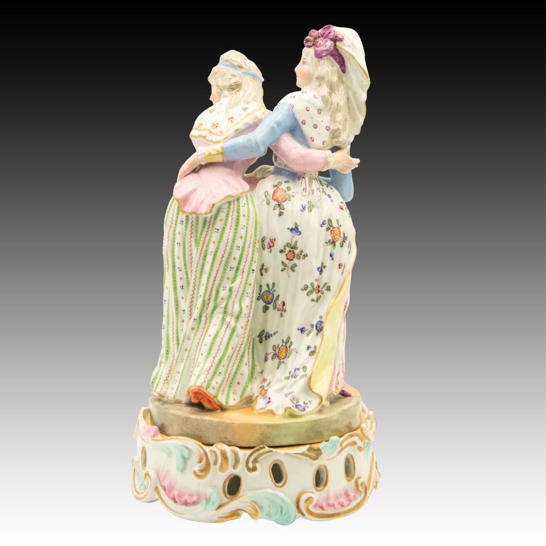 Meissen Two Ladies with Colorful Attire Figurine - 3