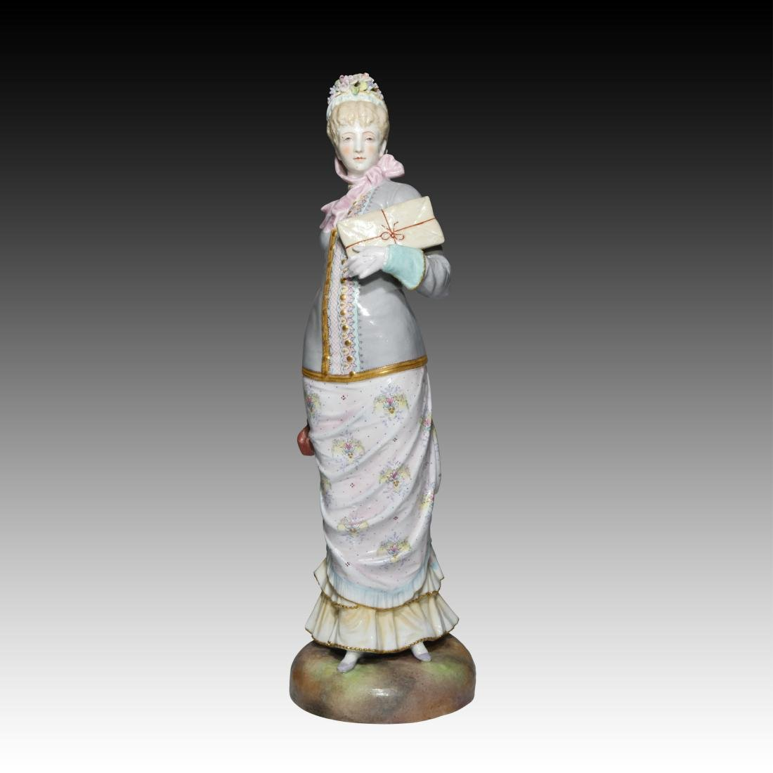 English Ceramic Figurine of a Classy Woman