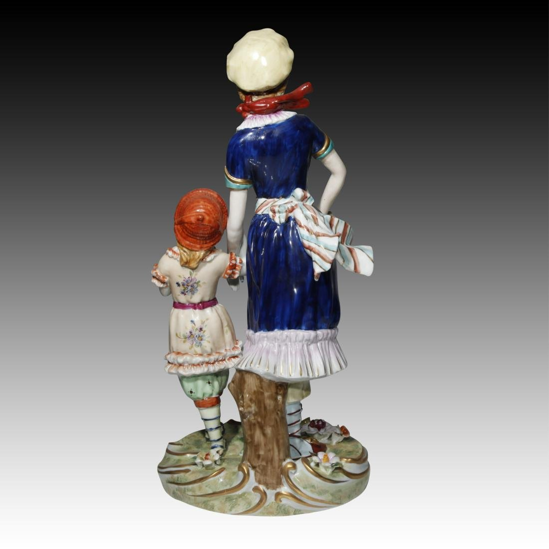 Dresden Figurine of a Woman and a Child - 3