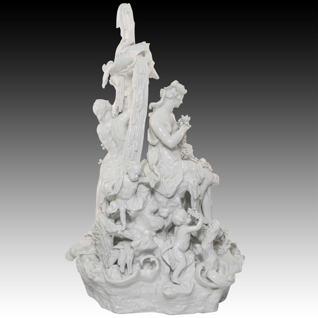 Nymphenburg Woman Making a Flower Garland Figurine - 2