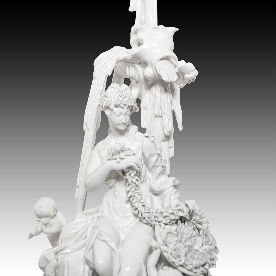 Nymphenburg Woman Making a Flower Garland Figurine - 5