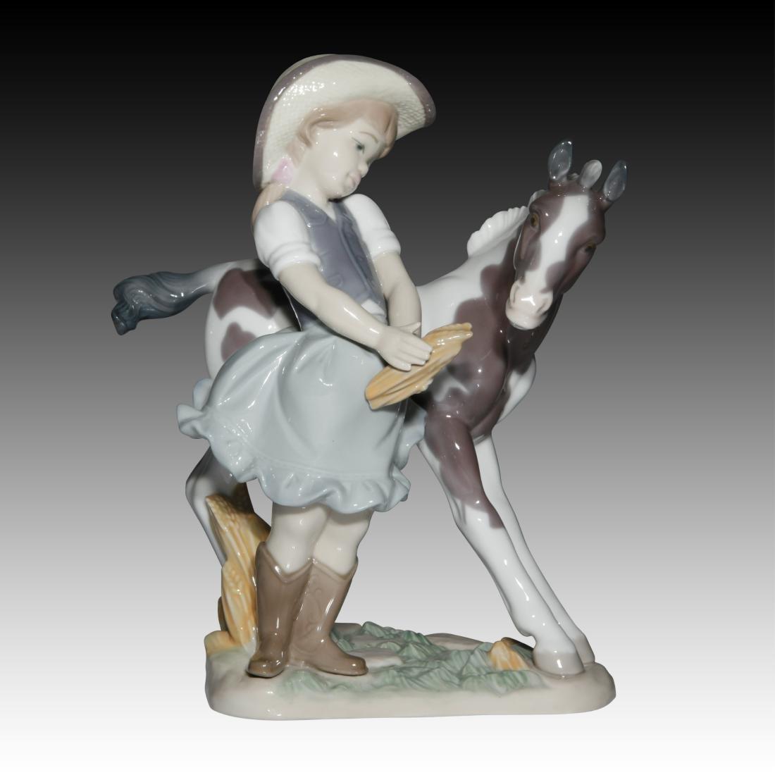 """Lladro """"Cowgirl"""" Figurine 01008636"""