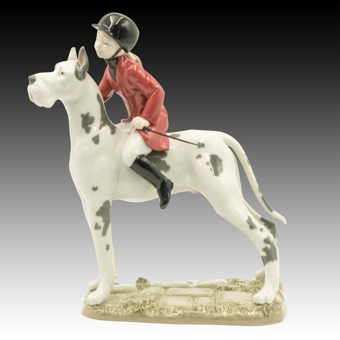 "Lladro ""Giddy Up Doggy"" Figurine 01008523"