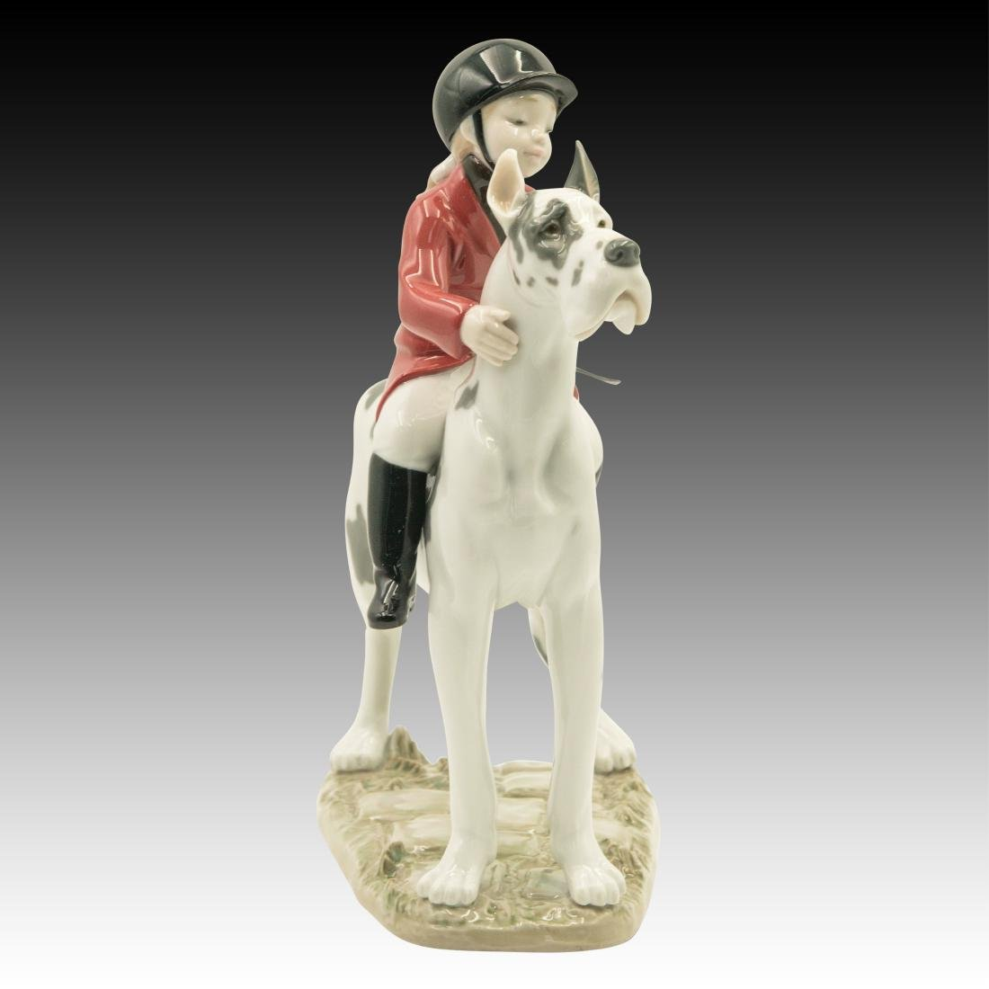 "Lladro ""Giddy Up Doggy"" Figurine 01008523 - 4"