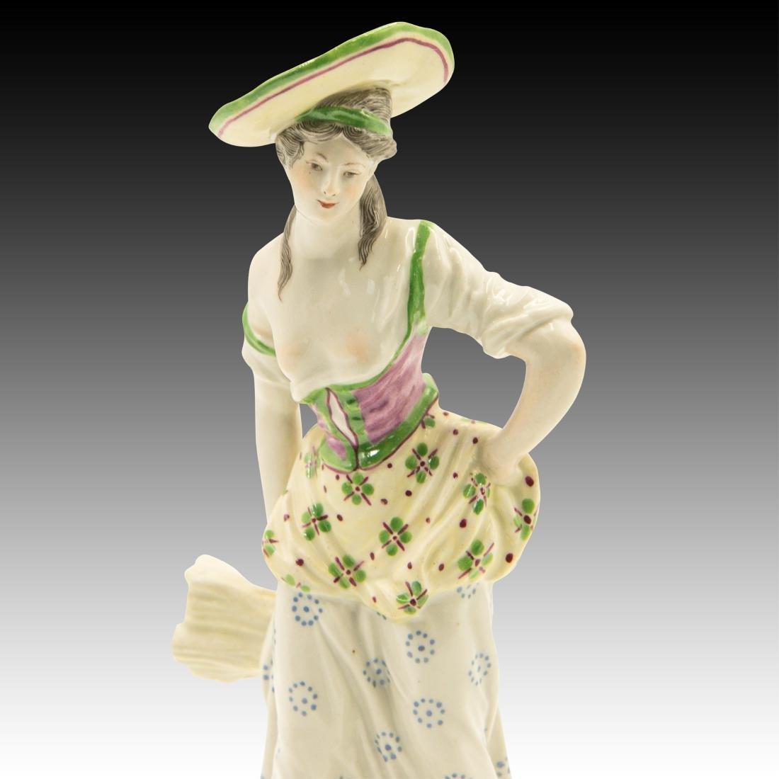 Young Woman Standing with Bundle of Wheat Figurine - 5