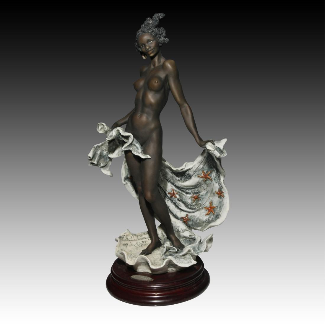 Giuseppe Armani Venere Nera Ebony Woman in Shell