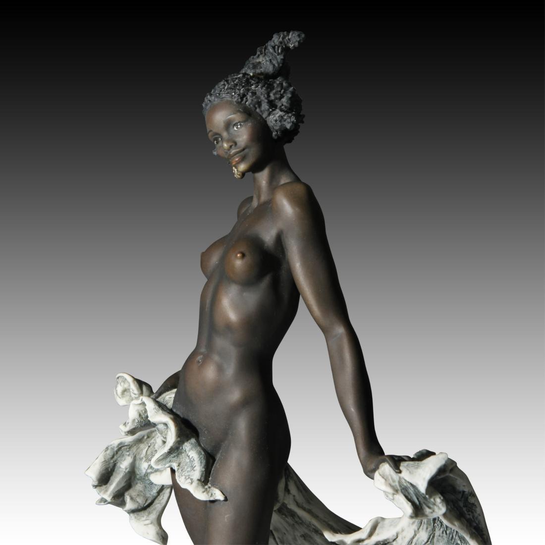 Giuseppe Armani Venere Nera Ebony Woman in Shell - 3