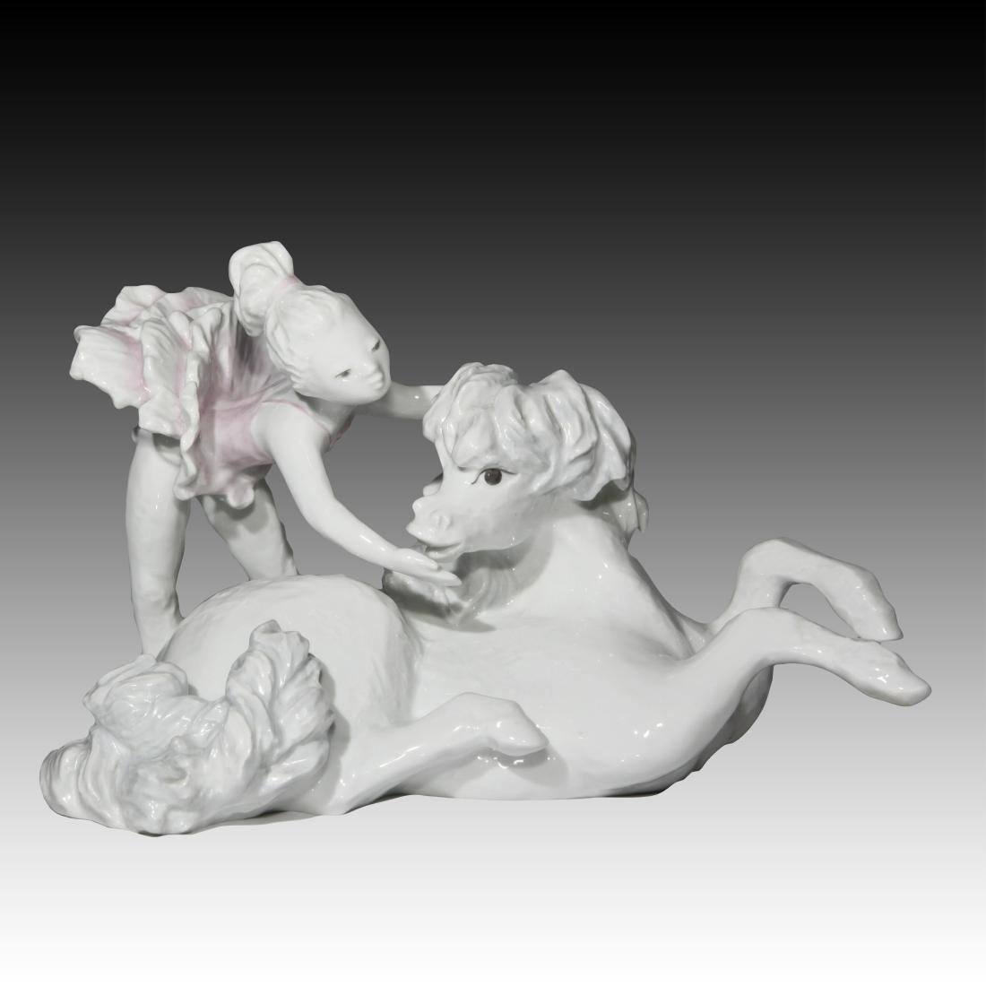 Rosenthal Young Girl Ballerina and Pony # 7070