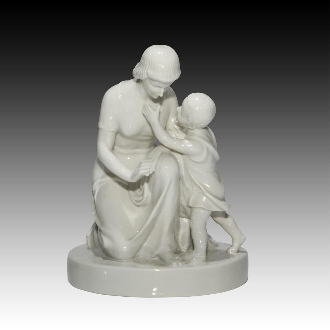 Schwarzburger Young Woman and Child Figurine