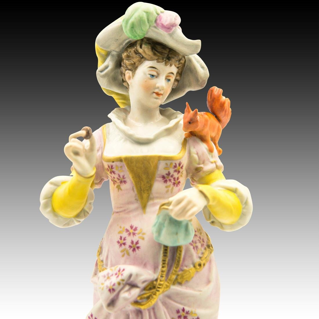 Woman with a Squirrel on her Shoulder Figurine - 5