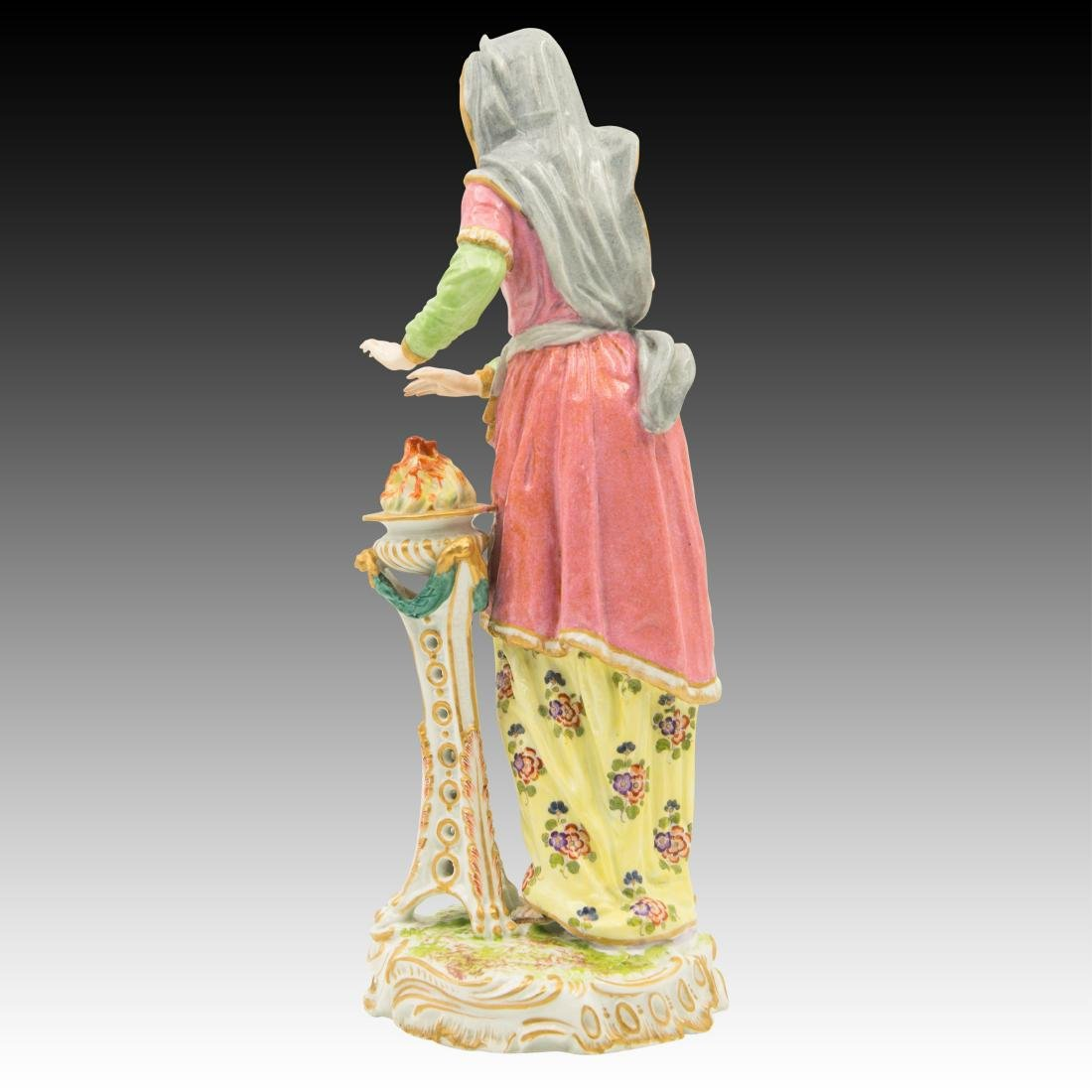 Tall Woman warming her hands by a fire Figurine - 3