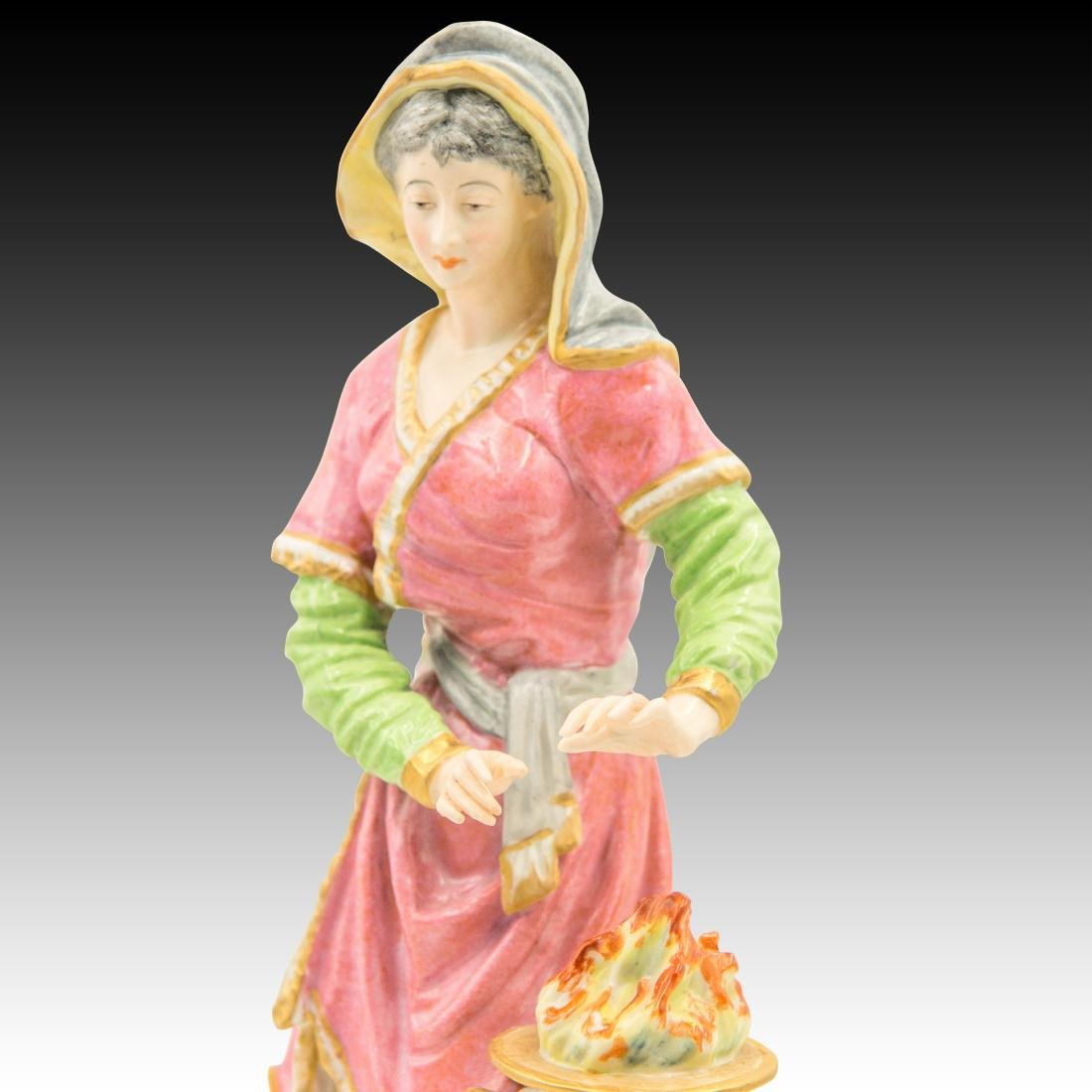 Tall Woman warming her hands by a fire Figurine - 5