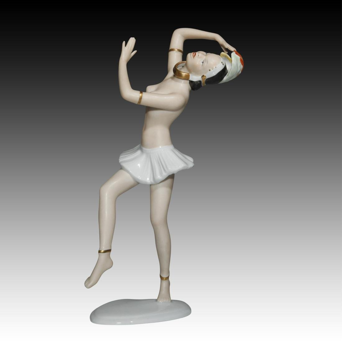 Wallendorf Semi-nude Dancer Figurine - 2