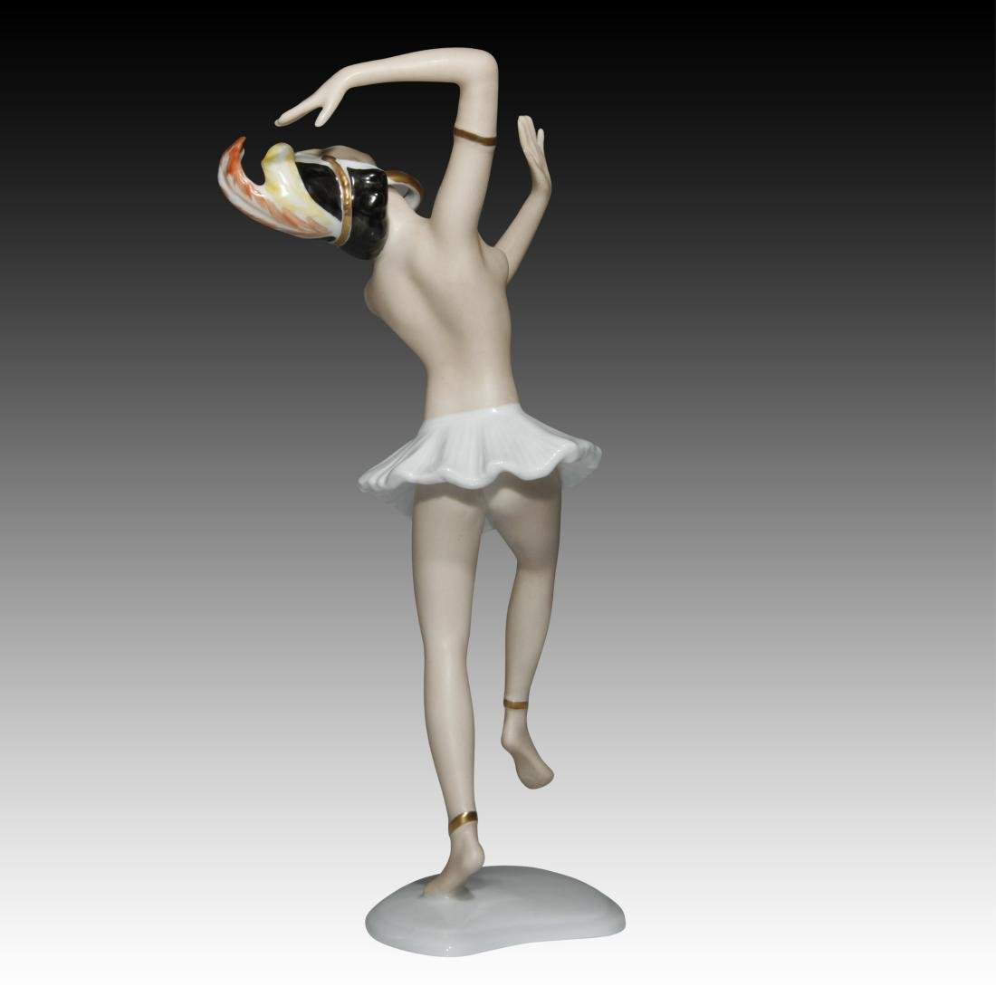 Wallendorf Semi-nude Dancer Figurine - 3