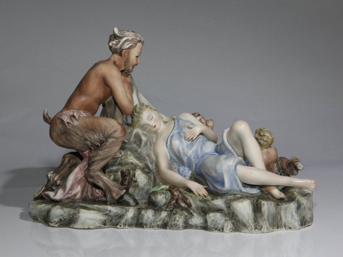Murmac Italy Satyrs Guarding the Princess Figurine