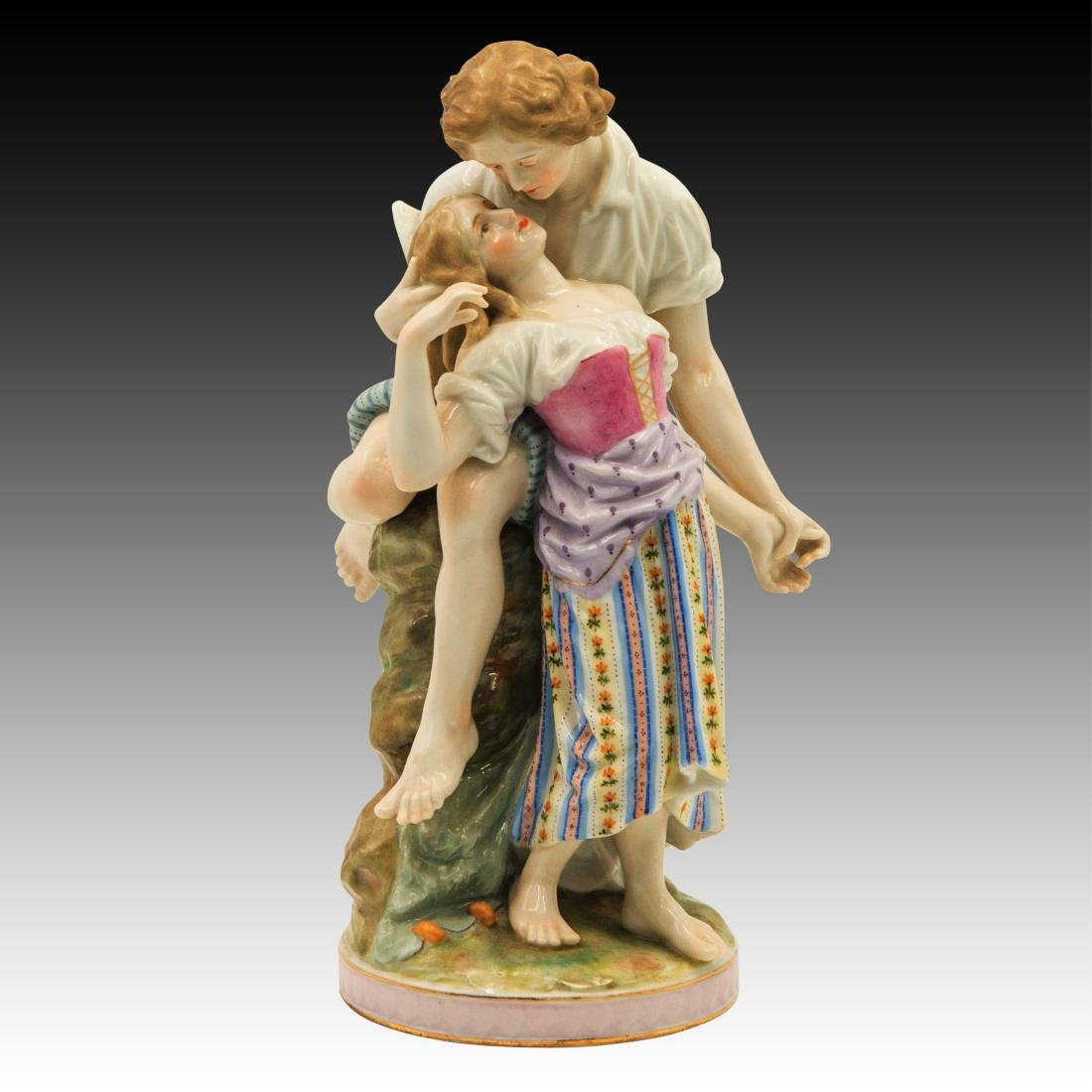 Polychrome Figurine of Young Lovers