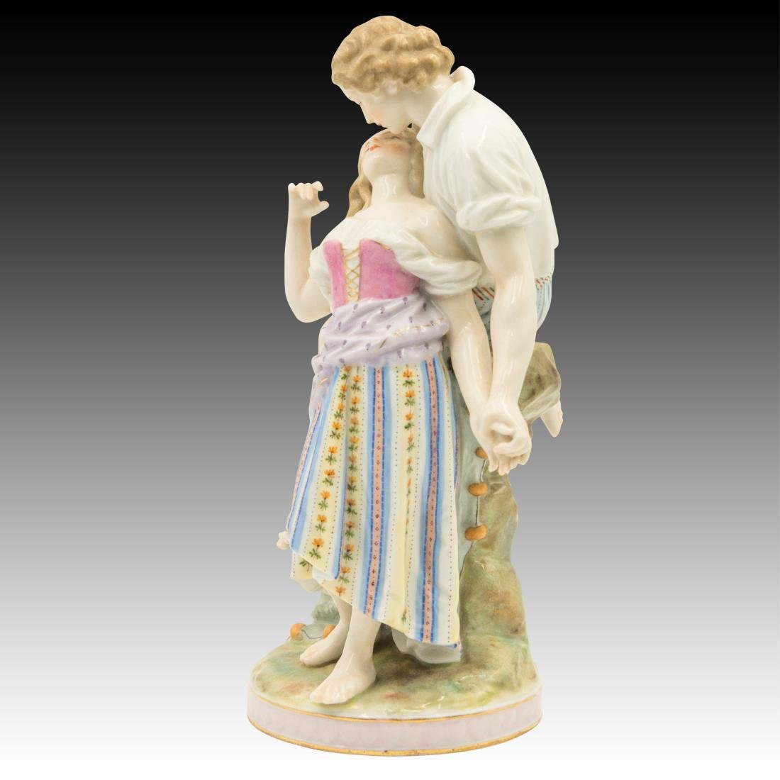 Polychrome Figurine of Young Lovers - 2