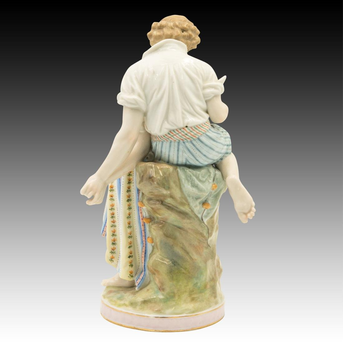 Polychrome Figurine of Young Lovers - 3