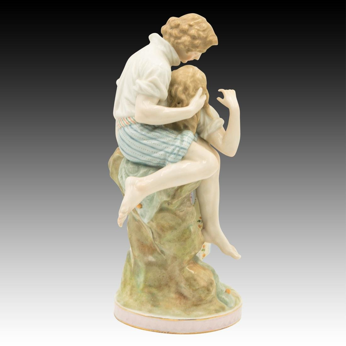 Polychrome Figurine of Young Lovers - 4